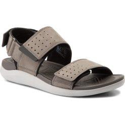 Sandały CLARKS - Garrat Active 261324297  Grey Nubuck. Czarne sandały męskie skórzane marki Clarks. W wyprzedaży za 229,00 zł.