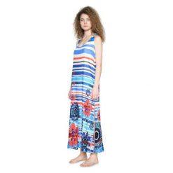 Długie sukienki: Desigual Sukienka Damska Flora S Niebieska