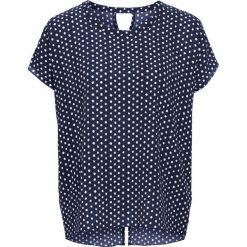 Bluzki damskie: Bluzka z krótkim rękawem w kropki bonprix ciemnoniebiesko-biały w kropki