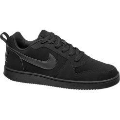 Buty męskie Nike Court Borough Low NIKE czarne. Czarne buty sportowe męskie marki Nike, z materiału, nike tanjun. Za 239,90 zł.