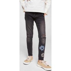 Mango Kids - Jeansy dziecięce Vicky 110-164 cm. Szare jeansy dziewczęce Mango Kids, z bawełny. W wyprzedaży za 69,90 zł.