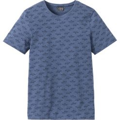 T-shirty męskie z nadrukiem: T-shirt Slim Fit z bawełny z recyclingu bonprix indygo z nadrukiem