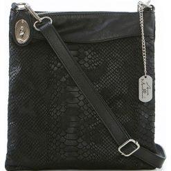 Torebki klasyczne damskie: Skórzana torebka w kolorze czarnym – 26 x 28 x 3 cm