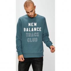 New Balance - Bluza. Szare bejsbolówki męskie New Balance, l, z nadrukiem, z bawełny, bez kaptura. Za 249,90 zł.