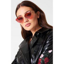 Okulary przeciwsłoneczne damskie: NA-KD Urban Okulary przeciwsłoneczne Cat Eye – Red