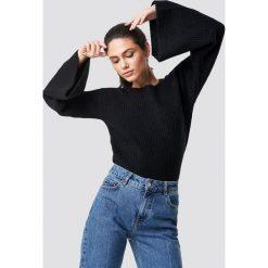 NA-KD Sweter z dużym rękawem - Black. Zielone swetry klasyczne damskie marki Emilie Briting x NA-KD, l. Za 141,95 zł.