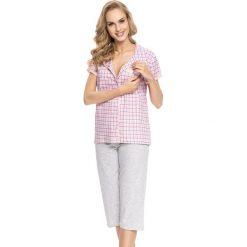 Piżamy damskie: Piżama w kolorze koralowo-szarym