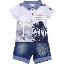 T-shirty chłopięce z krótkim rękawem: 2-częściowy zestaw w kolorze szaro-niebieskim