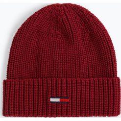 Tommy Jeans - Czapka damska, czerwony. Szare czapki damskie marki Calvin Klein Jeans, na zimę, z jeansu. Za 129,95 zł.