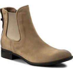 Sztyblety CARINII - B2412 I94-000-PSK-769. Brązowe buty zimowe damskie Carinii, z materiału. W wyprzedaży za 199,00 zł.