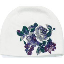 Czapka damska Kaszmirowe kwiaty biała (cz14227). Białe czapki zimowe damskie marki Art of Polo, w kwiaty, z kaszmiru. Za 54,70 zł.