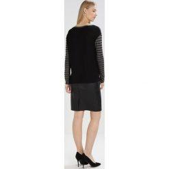 Swetry klasyczne damskie: Sisley Sweter dark grey/black