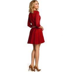JENNIFER Elegancka rozkloszowana sukienka z koła - czerwona. Czerwone sukienki balowe Moe, na imprezę, dopasowane. Za 129,99 zł.