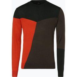 Armani Exchange - Sweter męski, pomarańczowy. Czarne swetry klasyczne męskie marki Armani Exchange, l, z materiału, z kapturem. Za 499,95 zł.
