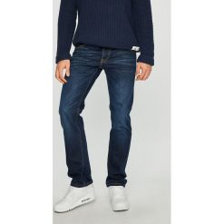 Mustang - Jeansy Michigan Straight. Czarne jeansy męskie regular marki Mustang, l, z bawełny, z kapturem. Za 269,90 zł.