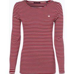 Marc O'Polo - Damska koszulka z długim rękawem, czerwony. Czerwone t-shirty damskie Marc O'Polo, s, w paski, z bawełny, polo. Za 179,95 zł.