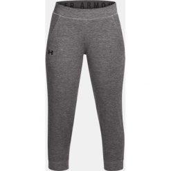 Spodnie sportowe damskie: Under Armour Spodnie damskie Featherweight Fleece Crop szare r. M (1309708-020)