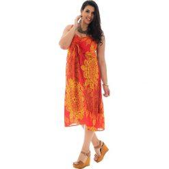 Sukienki: Sukienka w kolorze pomarańczowo-żółtym