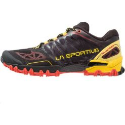 La Sportiva BUSHIDO Obuwie do biegania Szlak black/yellow. Czarne buty do biegania męskie La Sportiva, z gumy. Za 639,00 zł.