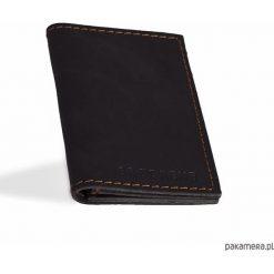 Portfele męskie: Skórzany męski czarny cienki portfel
