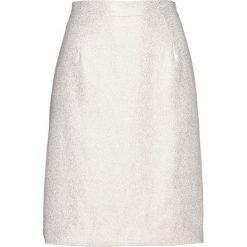 Spódnice wieczorowe: Spódnica z krepy z połyskiem bonprix biel wełny