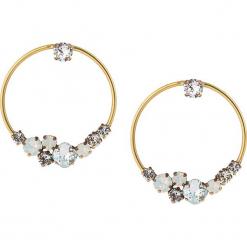Pozłacane kolczyki-wkrętki z kryształkami Swarovski. Żółte kolczyki damskie Destellos, z kryształem, metalowe. W wyprzedaży za 136,95 zł.