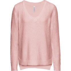 Swetry klasyczne damskie: Sweter dzianinowy bonprix stary jasnoróżowy