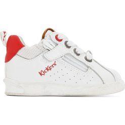 Skórzane buty sportowe CHICAGO BB. Niebieskie buty sportowe dziewczęce marki Kickers, z kauczuku, na sznurówki. Za 314,96 zł.