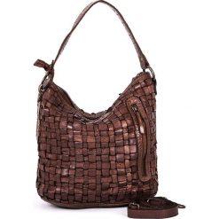 Torebki klasyczne damskie: Skórzana torebka w kolorze brązowym – 26 x 27 x 17 cm