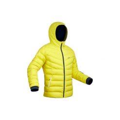 Kurtka narciarska SKI-P JKT 500 WARM męska. Żółte kurtki męskie puchowe WED'ZE, m, z puchu. Za 299,99 zł.