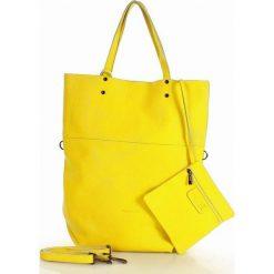 Torebka sacco XL skóra vera pelle MARCO MAZZINI - Alessia żółta. Żółte torebki worki MAZZINI, ze skóry, duże. Za 279,00 zł.