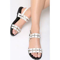 Białe Sandały Electric. Białe sandały damskie vices, na płaskiej podeszwie. Za 69,99 zł.