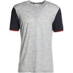 Koszulki polo: super.natural MOTION TEE Tshirt basic ash melange/blue black
