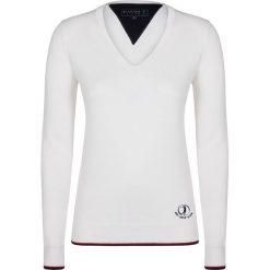 """Swetry klasyczne damskie: Sweter """"Shot"""" w kolorze kremowym"""