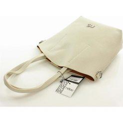 Klasyczna torebka shopper bag 2 in 1. Czerwone shopper bag damskie marki Nobo, w paski, ze skóry, na ramię. Za 140,00 zł.