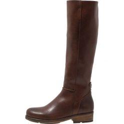 HUB KATHLEEN Kozaki dark brown. Brązowe buty zimowe damskie HUB, z materiału. W wyprzedaży za 671,20 zł.