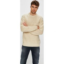 Quiksilver - Sweter. Szare swetry klasyczne męskie Quiksilver, l, z bawełny, z okrągłym kołnierzem. Za 299,90 zł.