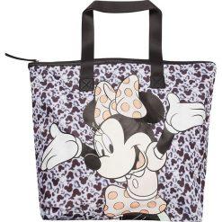 """Shopper bag damskie: Shopper bag """"Disney"""" w kolorze czarno-biało-fioletowym – 50 x 57 x 14 cm"""