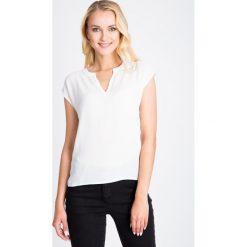 Bluzki asymetryczne: Biała bluzka z koronką na plecach QUIOSQUE