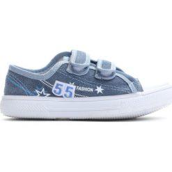 Niebieskie Trampki Want You To Know. Niebieskie buty sportowe chłopięce Born2be, z materiału, młodzieżowe, z okrągłym noskiem. Za 29,99 zł.