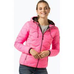 Superdry - Damska kurtka pikowana, różowy. Szare kurtki damskie pikowane marki Superdry, l, z nadrukiem, z bawełny, z okrągłym kołnierzem. Za 589,95 zł.