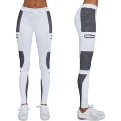 Spodnie damskie: Bas Black Legginsy damskie Passion Biało-szare r. L (BB12515)
