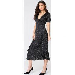 Długie sukienki: Emory Park Sukienka w kropki z falbanami - Black