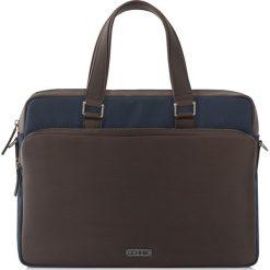 Teczka. Czarne torby na laptopa Ochnik, w paski, z nylonu, duże. Za 399,90 zł.