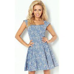 Raven Ekskluzywna sukienka motylek - granatowa kwiatowy wzór. Niebieskie sukienki hiszpanki numoco. Za 169,99 zł.