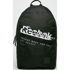 Reebok - Plecak. Szare plecaki męskie marki Reebok, l, z dzianiny, z okrągłym kołnierzem. Za 129,90 zł.