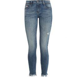 Tommy Jeans MID RISE SKINNY NORA 7/8 Jeans Skinny Fit tenny mid blue stretch. Niebieskie jeansy damskie relaxed fit Tommy Jeans, z bawełny. Za 549,00 zł.