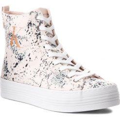 Sneakersy CALVIN KLEIN JEANS - Zazah Splattered RE9792  Pink. Czerwone sneakersy damskie marki Calvin Klein Jeans, z jeansu. Za 519,00 zł.