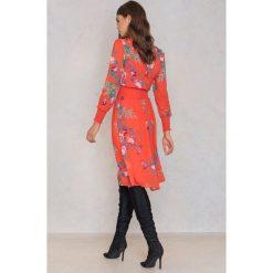 Sukienki hiszpanki: Trendyol Sukienka w kwiaty – Orange,Multicolor