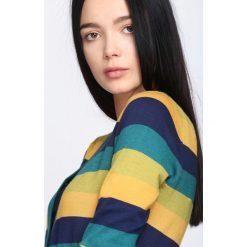 Zielono-Żółty Sweter Miracles. Żółte kardigany damskie marki Mohito, l, z dzianiny. Za 29,99 zł.